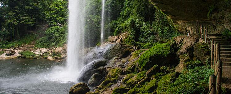 AGUA AZUL - MISOL-HA Maya Vacanze Mexico Holidays Waterfall